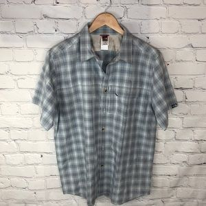 The North Face | Button Up Plaid Collared Shirt L